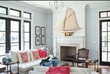 Red, White, and Blue Rooms / Ideas for decorating that perfect patriotic room in your house.