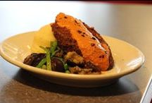 SEITAN CUTLET SPECIALS / Weekly housemade Seitan Cutlet specials. Available at Dinner (starting at 5:00 p.m.). We announce these specials on Facebook (https://www.facebook.com/VeggieGalaxy) and Twitter (@VeggieGalaxy) - - follow us!
