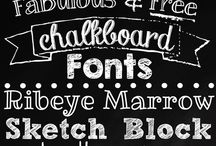 Fonts, fonts, and more fonts / A variety of fonts- most are free. Please check for usage rights. Most do have commercial rights