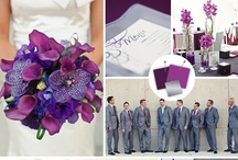 Purple Wedding Inspiration / A wedding board that started as an inspiration for my friends' wedding ... but turned into a fun explosion of all things modern & purple