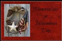 Memorial Day Or 4th Of July / Ideas for home decor, crafts, food & drink for Memorial day or the 4th of July