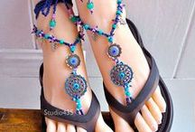 BAREFOOT SANDALS / ANKLETS beaded / by Meow New York