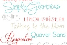Fonts & Lettering ✎ ✏ / Fonts and Lettering