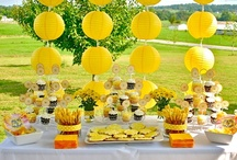 You are my Sunshine! / Hallie Grace's 2nd Birthday Party Theme.  Party Decor will be all yellow and white.  / by PQ Hudson