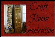 Craft Room Inspiration / Ideas for designing and organizing a fun and functional craft room