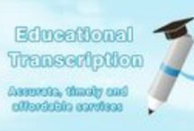 Educational Transcription / Educational transcription services for academic institutions all over the United Sates. Whatever your academic transcribing need is call us anytime at 1-877-323-4707.