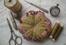 Pincushion Love / I have collected pincushions since I was a young girl and started sewing!  I LOVE them!!!
