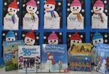 Winter / Penguins, Snowmen, Mittens, Snow / by Kelly Feldkamp
