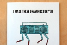 "my book / ""I made these drawings for you"" is my new book! It's 102 pages, with over 110 drawings from the past four years. (Get it on Amazon.com: http://j.mp/i-made-these-drawings-book - also available on other Amazon sites) / by Marc Johns"