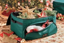 Christmas Storage Solutions / Easy-to-use solutions for packing away your Christmas decorations, ornaments, wrapping paper storage, Christmas tree storage bags and more.