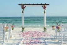 Beach Weddings / Weddings are romantic but they become magical at the beach.