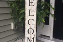 CREATIVE INSPIRATION / Getting crafty - arts and crafts using wreaths, wood, burlap, paint, twine, chalk paint, signs, wood