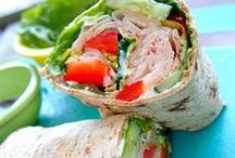 HEALTHY LUNCHES / Healthy lunches, lunch, cleaning eating, healthy eating, salads, vegetables, wraps, sandwiches