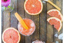 COCKTAILS / Entertaining with cocktails. Cocktails, drinks, beverages, vodka, gin, tonic, bourbon, soda, mint, grapefruit juice fruit juice, muddle, ice, crushed ice