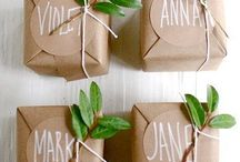 GIFT WRAP / Gift wrap ideas and inspiration using wrapping paper, ribbon, twine, yarn.