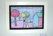 Art Ideas / Elementary art ideas.  / by Nicole Holloway
