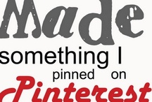 I Actually Did/Made Something From Pinterest / by Angie Ingmire