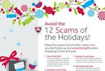 #12Scams of the Holidays / It's the happiest season of all–for cybercriminals! Be on the lookout for the #12scams of the holidays!  http://home.mcafee.com/root/campaign.aspx?cid=133052