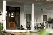 {front porch sittin'} / all things front porch + front yard: porch design, detail, decor and flowers / by mary catherine