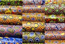 Colors of Africa / African trade beads and wax prints / by Kaye Kraus