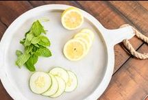 Health and Fitness / Adding mint, cucumber, and lemon to your water makes the best refreshing drink.