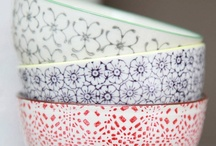 Printed Kitchenware / This is the first trend we're coveting for 2013. We've seen lots of hand-painted kitchenware popping up on the site over the past few weeks, and we love the idea of having lots of mismatched pieces in the kitchen. Great for stacking on shelves to create an eclectic, folky feel.  / by notonthehighstreet.com
