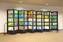 Ideas for Artwork Displays and Art Exhibits / Students love to see their artwork on display for their parents and classmates.