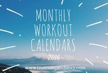 2016 Monthly Workout Calendars / Never Get Stuck in a Workout Rut. Print out your monthly workout calendar - I've done the work of creating your daily workout for you!
