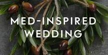 Med-Inspired Wedding / Whether you've both got a passion for travel (and sunshine) or you're planning an exciting elopement, these original finds will bring more of what you love to the big day. Mix the traditional with Mediterranean cuisines, styling and colourways for a wedding like no other.