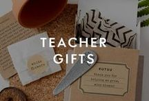 Teacher Gifts / Thank you teacher gifts have come a long way since the days of a shiny apple. From grow-your-own coffee plants to chill pill bath bombs, let them know they've done a good job with our unique teacher gifts.