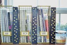 Home Decor: Organization / Home Organization Tips, Tricks and Inspiration to keep your home running neatly and smoothly