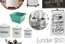 Thrifty Home Decor Shopping Tips / Tips and inspiration for finding and creating decor for your home on a budget.