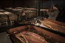 Hear Palmer 2015 / For the 7th edition of Hear Palmer, on March 24th and 25th, Château Palmer welcomed two young pianists, Dan Tepfer and Thomas Enhco. During this unique concert in the heart of the estate's cellars, the musicians improvised a piano duo to unveil the 2015 vintage.