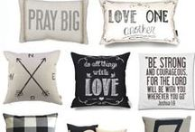 Home Decor : Pillows / Pillows to add that perfect finishing touches to your home