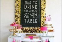 food bars for entertaining / ideas for creating beautiful and inviting food and drink areas at weddings, parties and special events