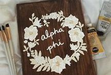 Alpha Phi / All things Alpha Phi. Follow this board to see cute APhi photos, designs, and Alpha Phi recruitment ideas!