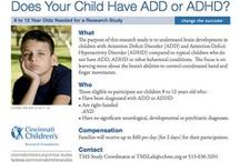 ADD/ADHD / Find news and research studies (or clinical trials) about ADD/ADHD from Cincinnati Children's. / by Cincinnati Children's Research Studies