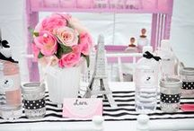 Party Themes - Parisian / Paris, stripes and a whole lot of pink!