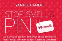 Yankee Candle Stop & Smell,Sparkling Cinnamon / My favorite scent, cinnamon! #YankeeCandle #StopAndSmell / by Patti Williams