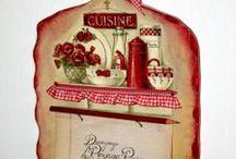 Decoupage: Objetos cocina / Kitchen items