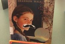 """We """"Mustache"""" you to read these teen books! / We mustache (get it? like """"must ask"""") you to check out these great teen books with covers that are perfect for facial hair. Click the picture to see the book in our catalog and visit the Teen Area at the library to see this display!  / by Bedford Library"""