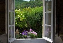 W I N D O W * V I E W S / Love the romantic and relaxing views of a lovely garden