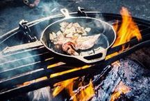 C A M P F I R E * F O O D * B A R B E C U E / Camping and eating fresh food in the nature... love!