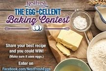 Eggcelent Egg Month! / May is National Egg Month, and we're celebrating with some of our favorite recipes and tips. Submit your baking recipes (using eggs) on Facebook for your chance to win! Learn more here: https://www.facebook.com/NestFreshEggs/