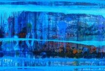 In blue / Artistic images in blue forms to help bring color to the world of figurative Fine Art