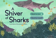A Shiver of Sharks / Book app, apps for kids, sharks, ocean animals, collective nouns, ocean,  / by Julie Hedlund