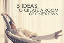 A Room of One's Own / Inspirational Writing Spaces to Keep your Pen Moving and Ideas Flowing / by Mom Bloggers Club