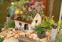 Miniature Gardening Fairy Garden Fun / I love to Miniature Garden it brings the child out in all of us Stop off and join our Face Book Miniature and Fairy Garden Chat  / by Arlena Schott