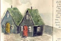 **~Art - Houses~** / Art that has houses. Any artwork with beautiful homes. / by Janet S