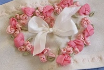 ---Embroidery--- / Stitching beautiful handmade Embroidery onto pillowcases and fabrics...
